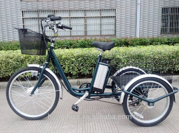 wholesale e-tricycle 250w/350w/500w with big baskets
