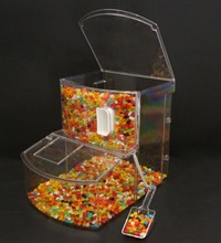 Retail store clear bulk candy bin candy container for sale