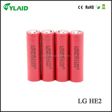free shipping 2500mah18650 lg battery 35amp LG HE2 lithium iron phosphate battery