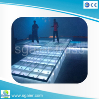Fashion show concert glass light up dance stage