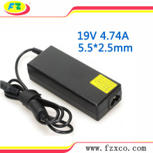 19V 4.74A 90W AC Laptop Power Adapter Charger For Toshiba PA-1900-24 Satellite A300 M305 L305 L300D