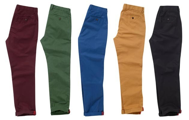 mens baggy chino trousers pants - OEM high waist slimming pants-186