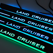 Universal Car LED Welcome pedal light LED LOGO Moving Door Scuff lamp door sill LED light For LAND CRUISER