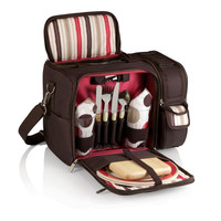 600D Polyester 2 person Picnic Basket Insulated Shoulder Pack