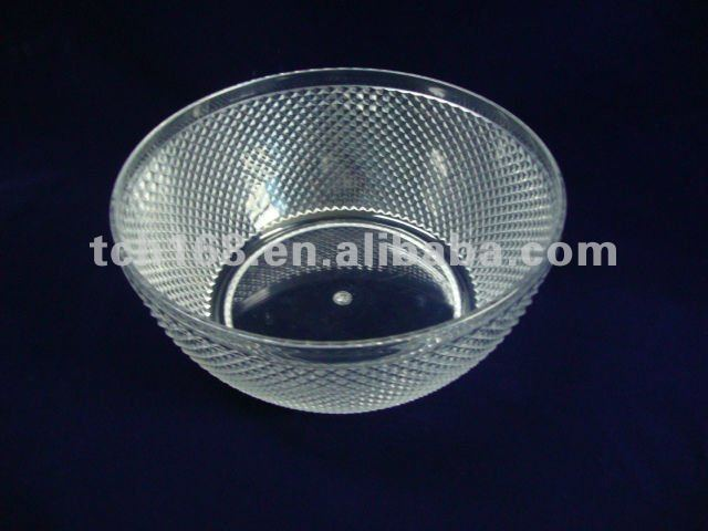 Clear Acrylic Salad Bowl