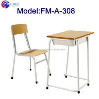 FM-A-308 Steel frame classroom student desk and chair