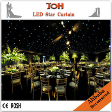 Led star cloth,fiber optic lighting star cloth,fairy light curtain