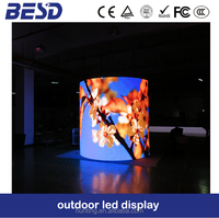 Convex, concave and column shape p10 led display, outdoor led large screen display
