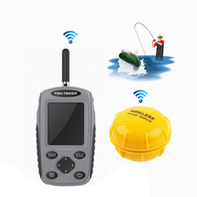 Portable Sonar Wireless Fish Finder Waterproof Echo Sounder Depth Finder Alarm Transducer Fishfinder Alarm Fishing