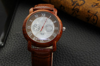 new craft alloy case but looks like wood face fashion shell dial watch