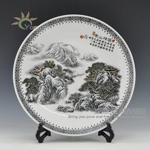 Snow View Decorative Ceramic Wall Or Table Plates