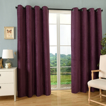Blackout Thermal Insulated Grommet Curtains Jacquard Chenille Fabric Draperies
