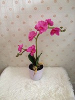 7tips ,50cm artificial Phalaenopsis, 7 LED lights, the basinstand base resin, section three 5 battery