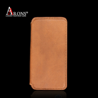 Premium folio flip with magnet first layer leather wallet case leather phone case for iphone6 cover