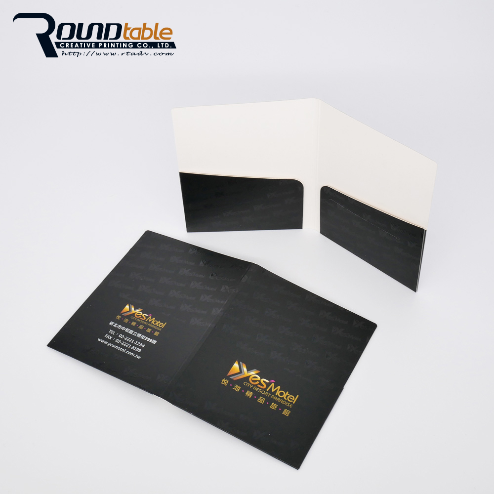 A4/B5 customized disposable paper folder with transparent cover