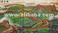 100% pure-hand cross stitch painting the Great Wall as one of the seven wonders