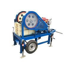 Portable sand crusher diesel engine gold rock hammer mill