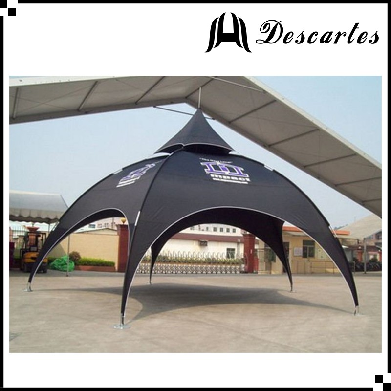 Alumnium frame 4.5m tade show display tents/custom advertising arch tents/spider tents for events
