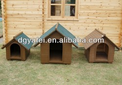 artificial wooden decorative dog run kennel