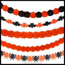 Event Party Supplier Eco-freindly Party Decoration Paper Lantern Garland Flower Halloween Decorations