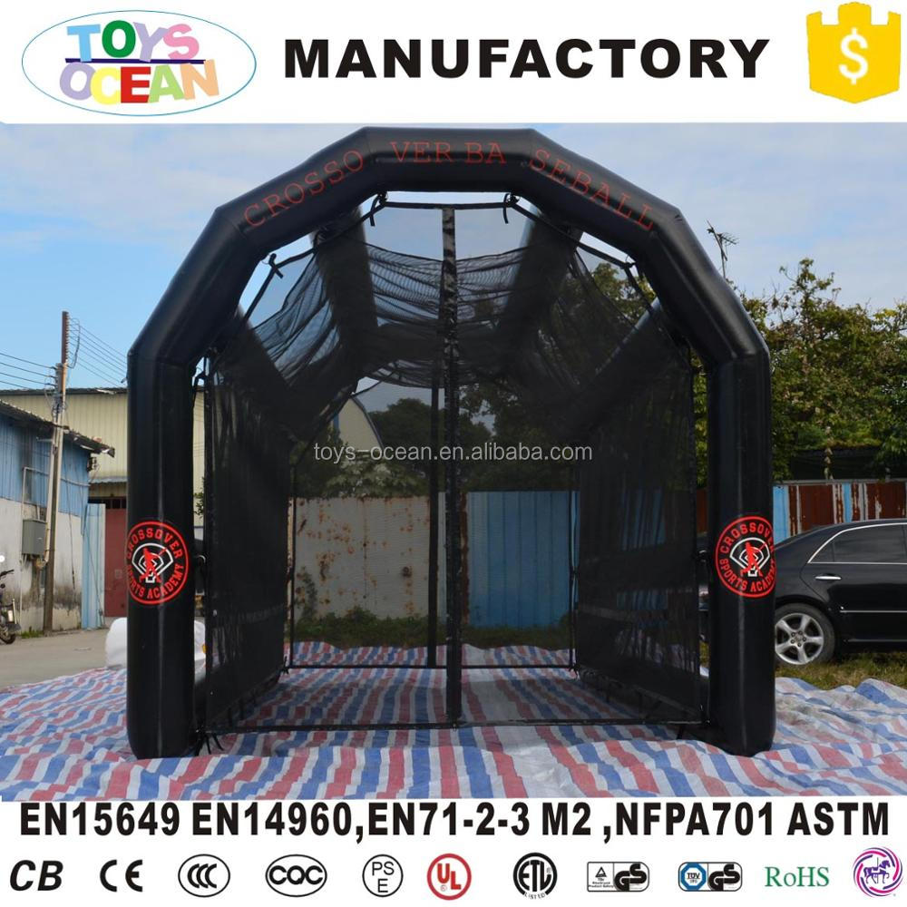 black color inflatable baseball sport court inflatable batting cage for sale