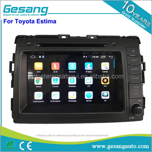 High quality car stereo android 6.0 system 2 din car dvd support 4G connection for Toyota Estima
