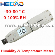 Measurer Tool USB Pen Type Digital Display Thermometer & Hygrometer DataLogger