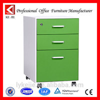 Factory Direct Sale cheap file cabinets Mobile Steel storage chest Desk Pedestal Cabinet