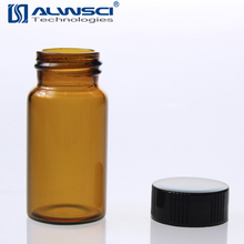 Lab storage amber glass bottles 20ml 60ml 120ml with plastic screw cap