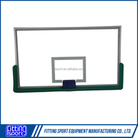High quality 12mm thick Tempered Glass Basketball Backboard