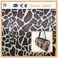 pvc coated polyester satin fabric with print