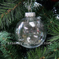 Seamless 80mm Christmas Decorations Clear Plastic
