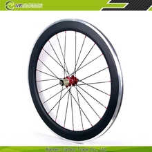 glossy surface carbon aluminum bicycle wheel 60mm clincher alloy brake 700c size bicycle wheel