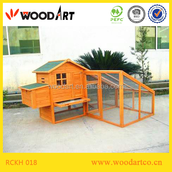 Fir Wooden trapezoid run for chicken coop direct