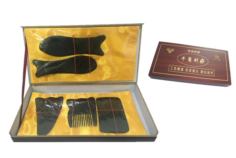 Factory direct sales Pure OX horn scraping therapy guasha tool