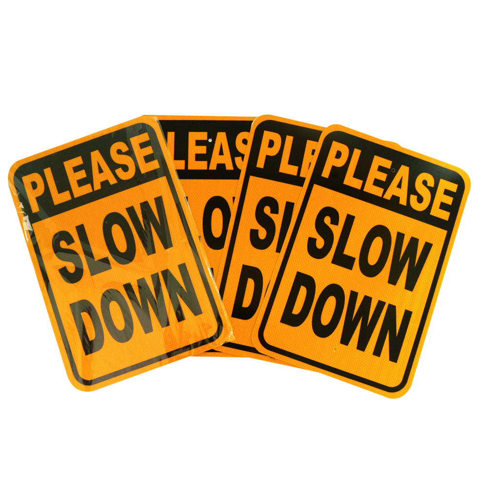 Wholesale Please Slown Down Heavy-Duty Road Safety Traffic Sign