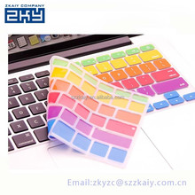 colored rubber keyboard cover tablet pc keyboard cover silicone color keyboard cover