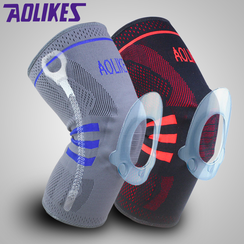 nylon knee compression sleeve for basketball with spring support