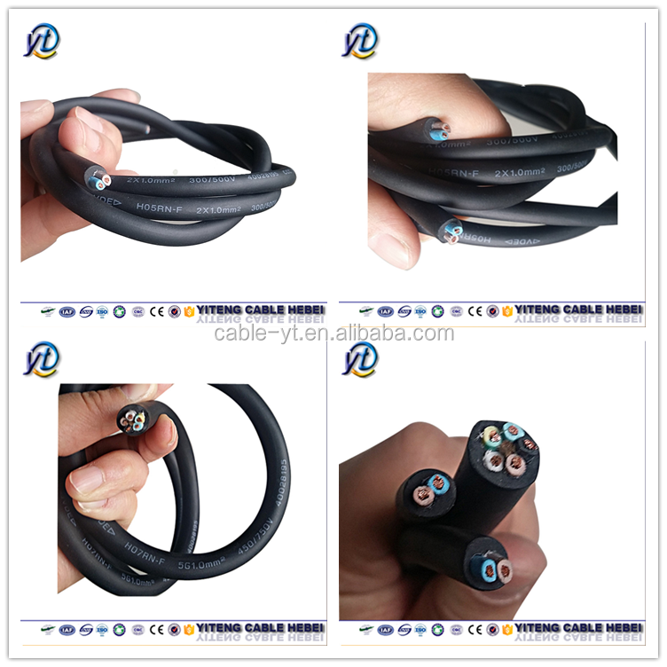 UL Approved 16AWG SO SOW SOO SOOW Rubber Flexible Cable