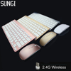 2016 New Design 2.4G Ultra-Thin Wireless Keyboard and Mouse Combo For Apple Mac PC WindowsXP Andriod Tv Box