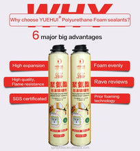 High quality whosale waterproof spray polyurethane PU foam glue for construction