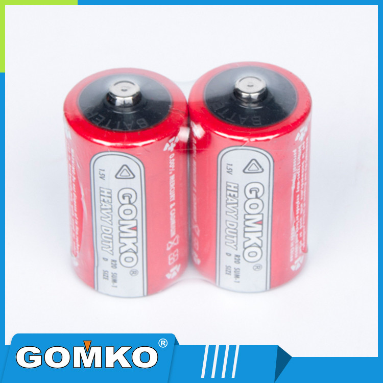 Long life 1.5V D carbon zinc dry battery