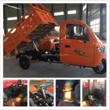 2016 Heavy carring 2500cc gasoline 3 seats cargo tricycle loading capacity 2-3 tons Adult Closed Container Cargo Tricycle