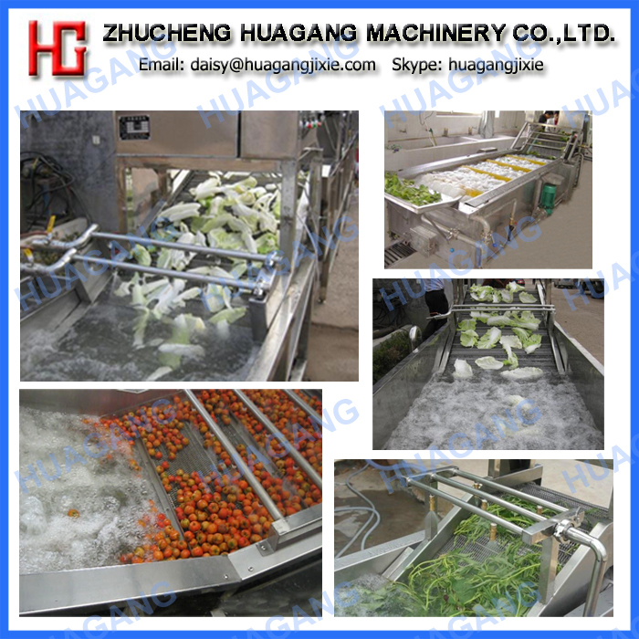 Vegetable and fruit cleaning machine