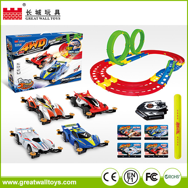 Kids slot toys electric race tracks with rc car