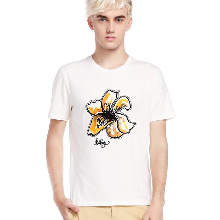 Custom flower printed dubai wholesale t shirt importers for Buy printed t shirts wholesale