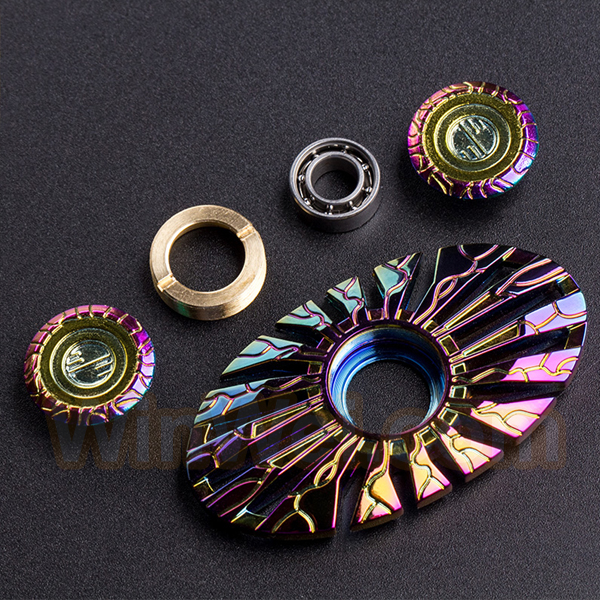 Zinc alloy hand fidget spinner toy