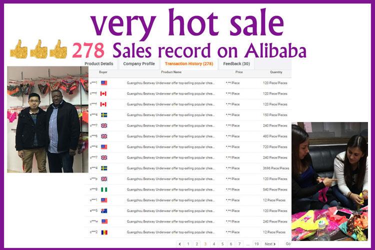Guangzhou Bestway offre de Sous-Vêtements haut-vente populaire pas cher sous-vêtements sexy transparent assorties dentelles fabriquées sexy femmes sous-vêtements