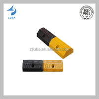 Black & Yellow Color Garages Industrial Rubber Wheel Stoppers (LB-C01)