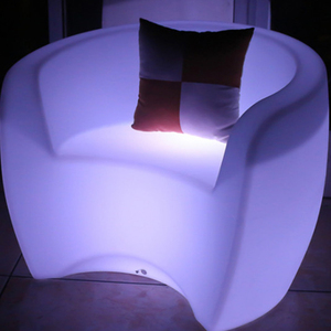 Living room sofa set bar chair party plastic color illuminated garden led sofa furniture